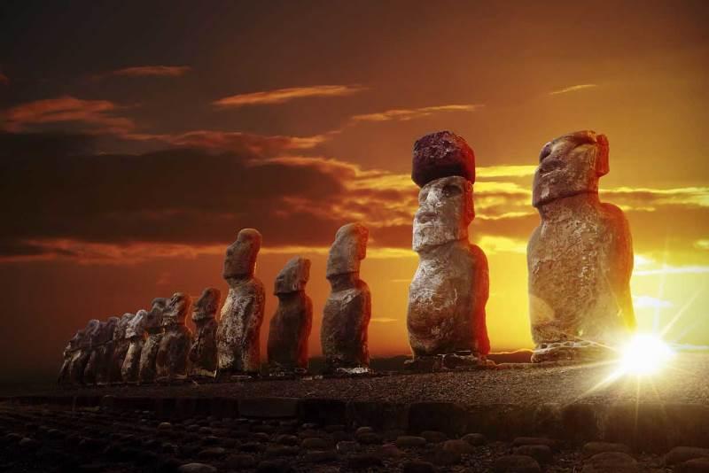 easter island statues hats