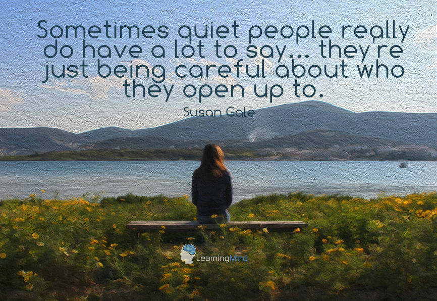 Sometimes quiet people really do have a lot to say