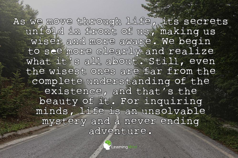 as we move through life