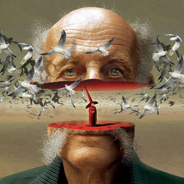 surreal illustrations igor morski head
