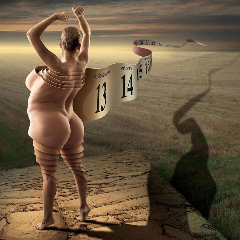 surreal illustrations igor morski weight loss