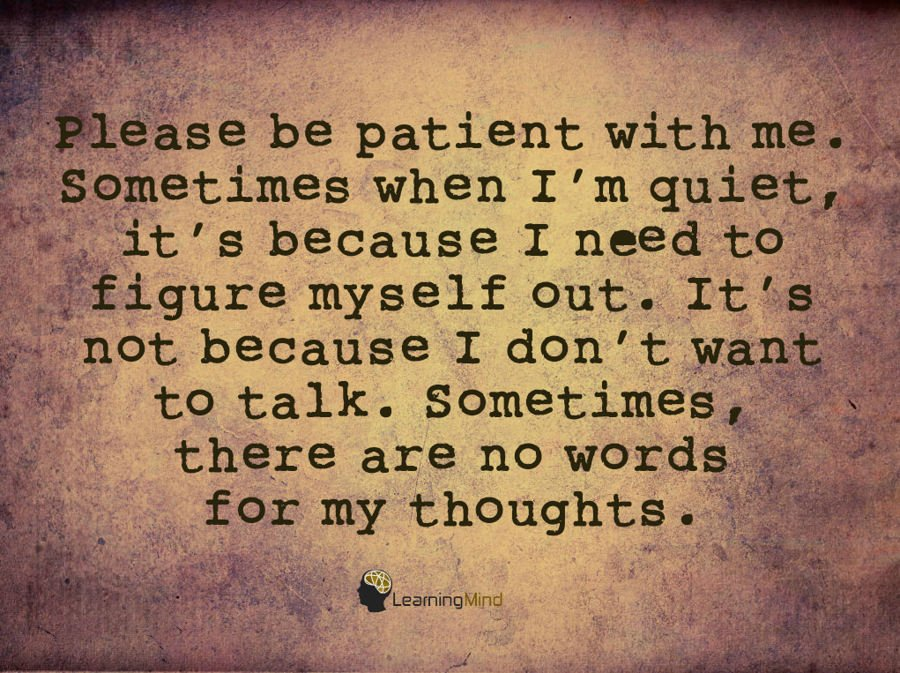 Please Be Patient With Me Learning Mind