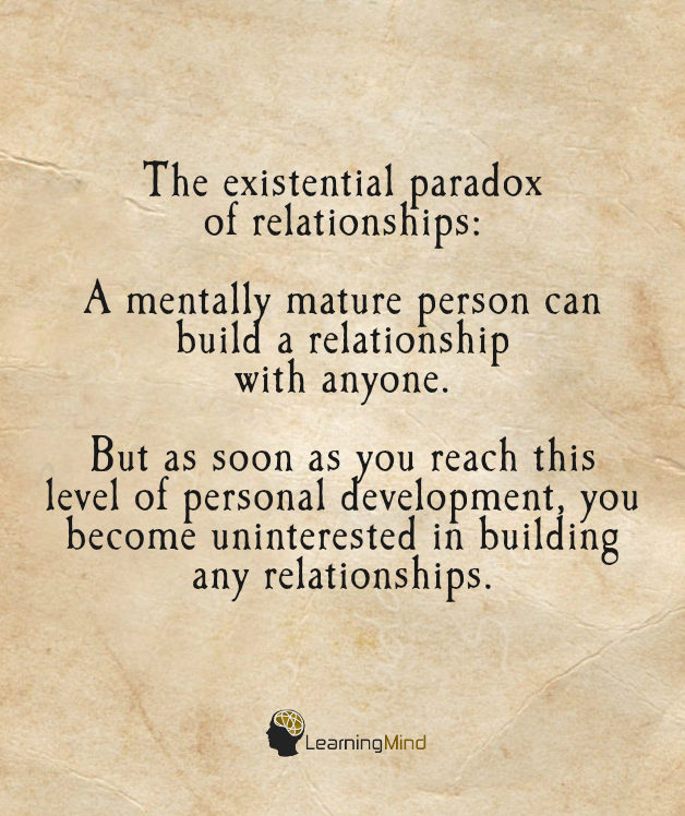 The existential paradox of relationships