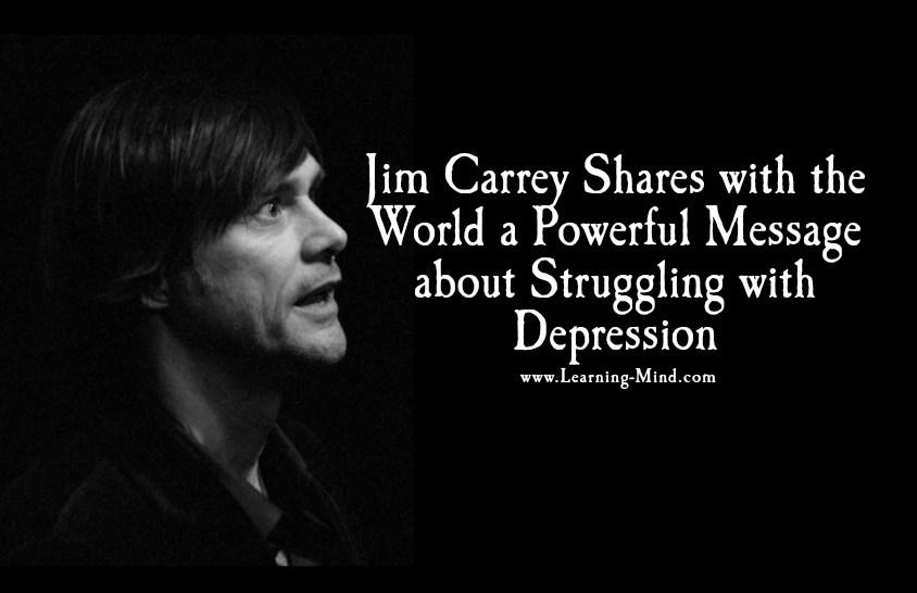 struggling with depression jim carrey