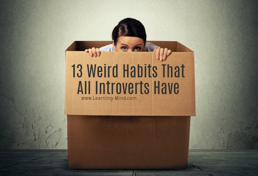 weird habits introverts