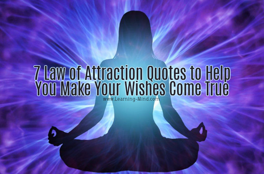 Law Of Attraction Quotes Fascinating 7 Law Of Attraction Quotes To Help You Make Your Wishes Come True