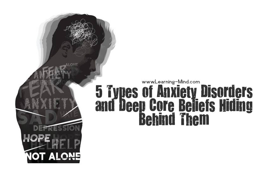 types of anxiety disorders beliefs