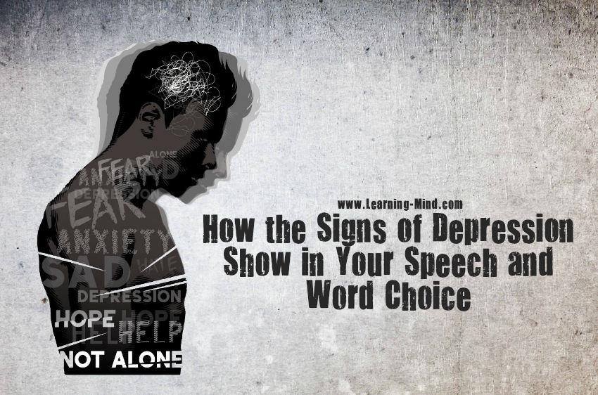 signs of depression speech