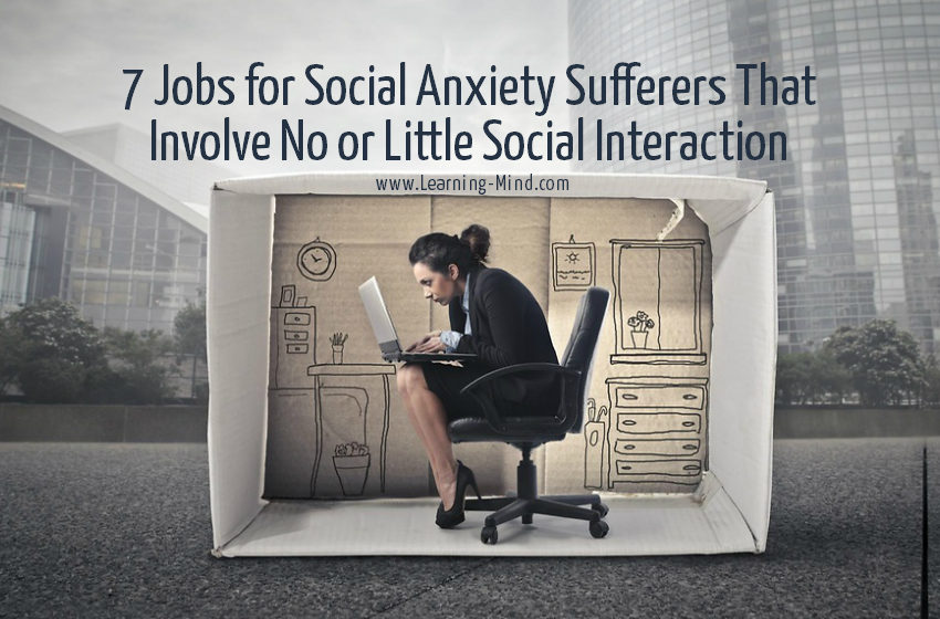 jobs for social anxiety sufferers