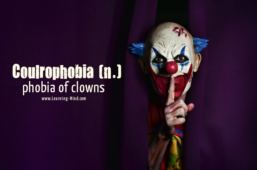 Phobia of Clowns Coulrophobia