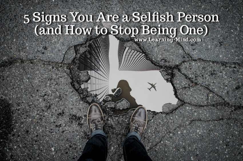 how to stop being selfish