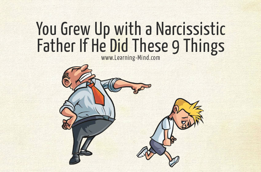 narcissistic father signs