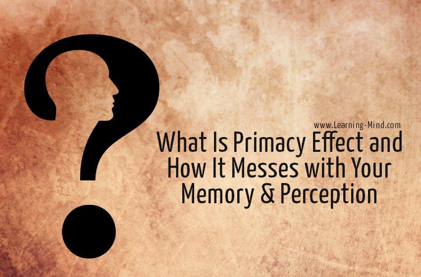primacy effect memory