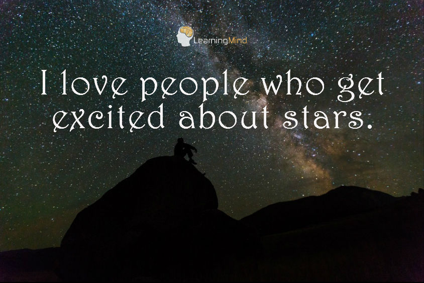 I love people who get excited about stars