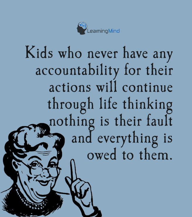 Kids who never have any accountability for their actions