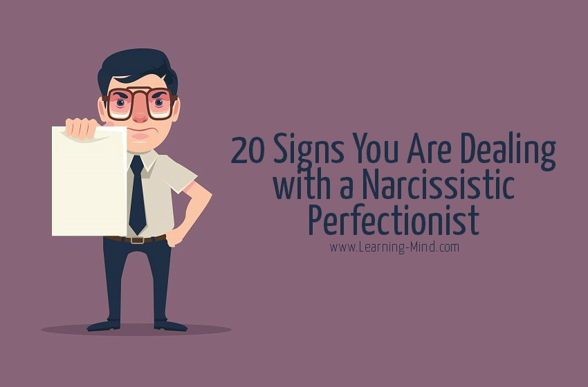 Narcissistic Perfectionist signs