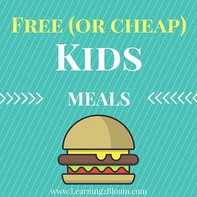 Is feeding your kids breaking your budget? Here is a list of free or cheap kids meals.
