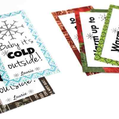 Free printable hot chocolate tags. Perfect for a small Christmas gift for neighbors, friends, or family.