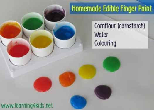 Learning Opportunities Homemade Edible Finger Paint