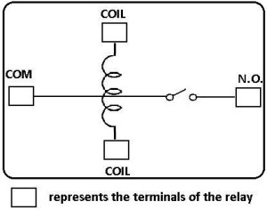 Single Pole Single Throw (SPST) Relay Wiring Diagram