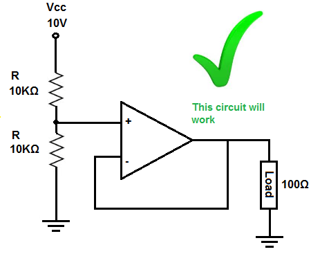 Voltage divider circuit that works