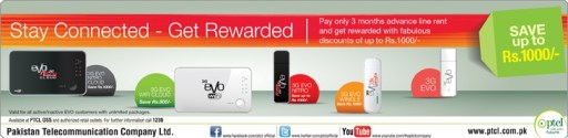 PTCL EVO Discount Offer Stay Connected-Get Rewarded