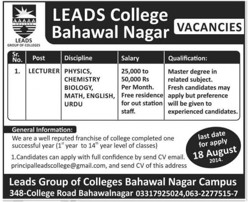 Leads-Group-of-College-Jobs-2015