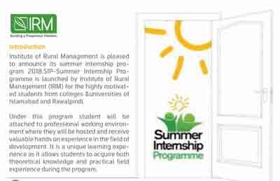 IRM Internship Program
