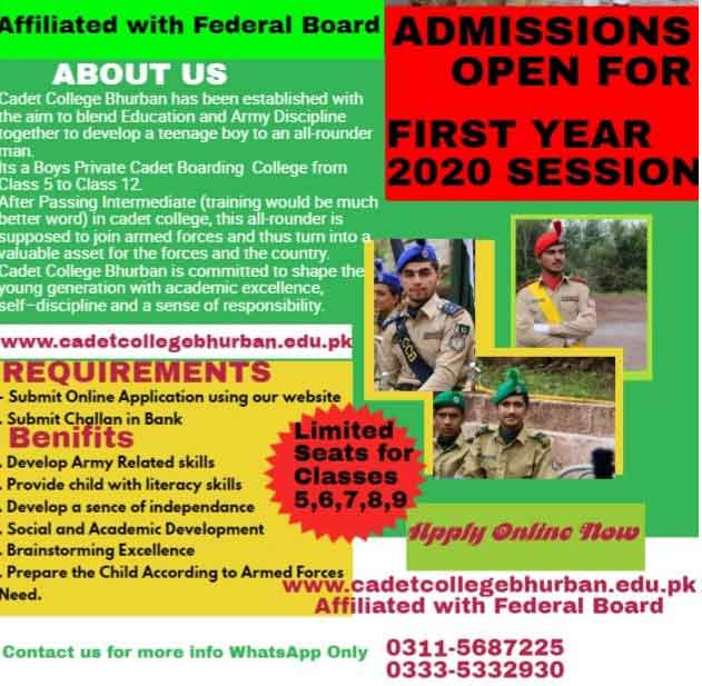 Cadet-College-Bhurban-Murree-Admission-2020-Form