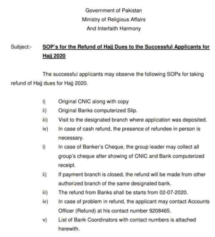 Hajj-Refund-Pakistan-Notification-2020