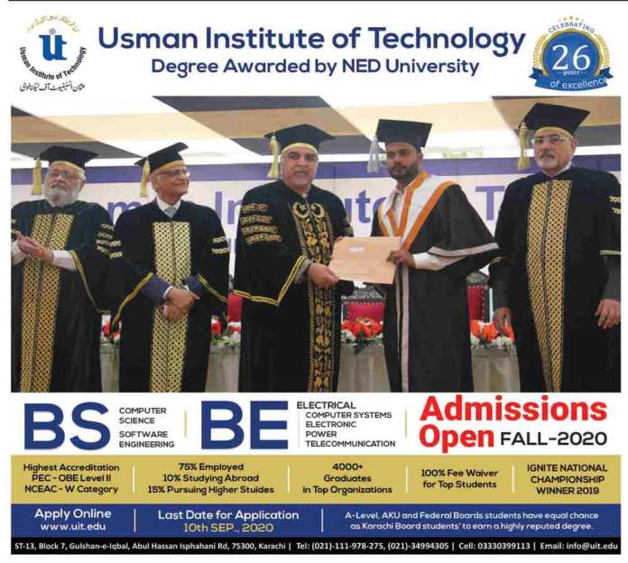 Usman-Institute-of-Technology-Karachi-Admission-2020