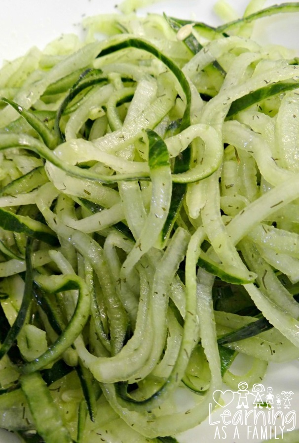 Cucumber Noodles Recipe! A Fun Way To Eat Vegetables!