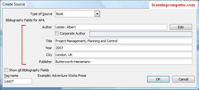 how to create tabs in word 2007