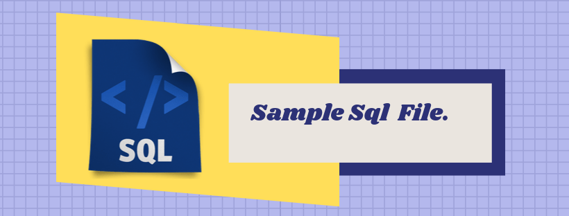 Sample SQL File