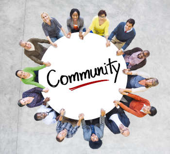 Diverse People in Circle with Community Concept
