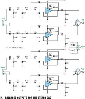A Balanced Output Board For The Stereo DAC Circuit Diagram