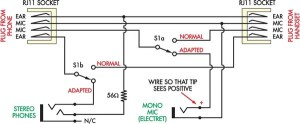 Cheapskate's Headset Adapter Circuit Diagram