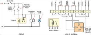 Low Cost Burglar Alarm For Boats Circuit Diagram