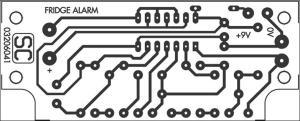 FridgeDoor Open Alarm Circuit Project Circuit Diagram