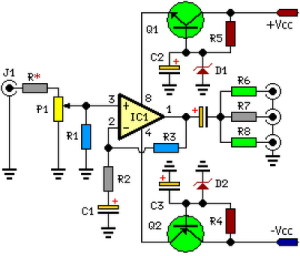 Three Channel Audio Splitter Circuit Diagram