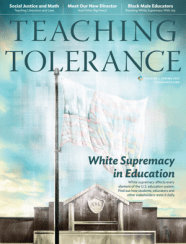 Cover of 'Teaching Tolerance' magazine, Spring 2021 issue.