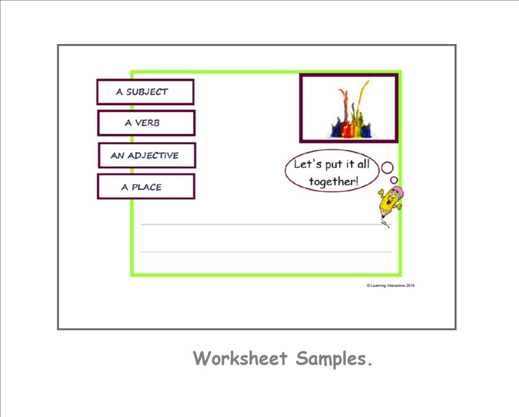 Visual Literacy Descriptive Sentence Writing
