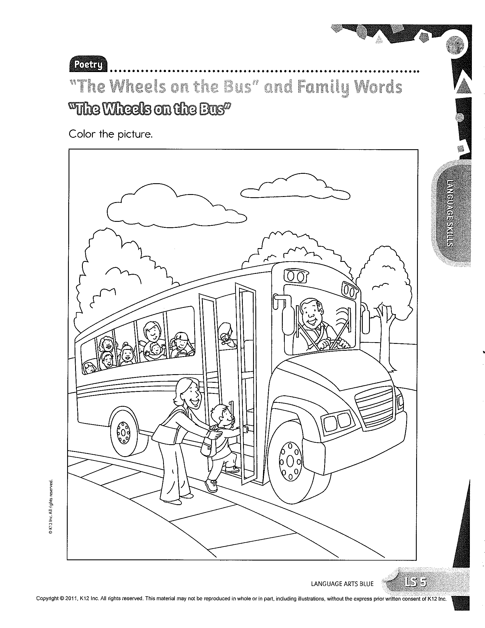 Learning Activity Coloring Pages