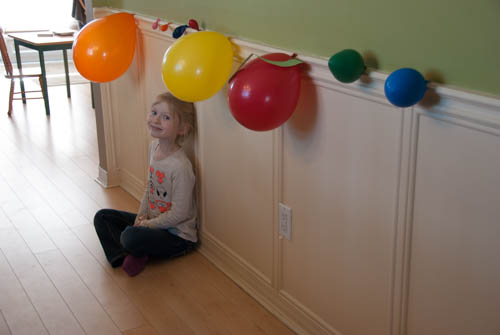 Hands on science with Apologia's Exploring Creation with Astronomy - Model of the solar system using balloons