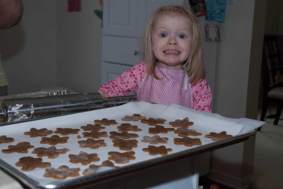 Baking gingerbread - an annual Christmas tradition!