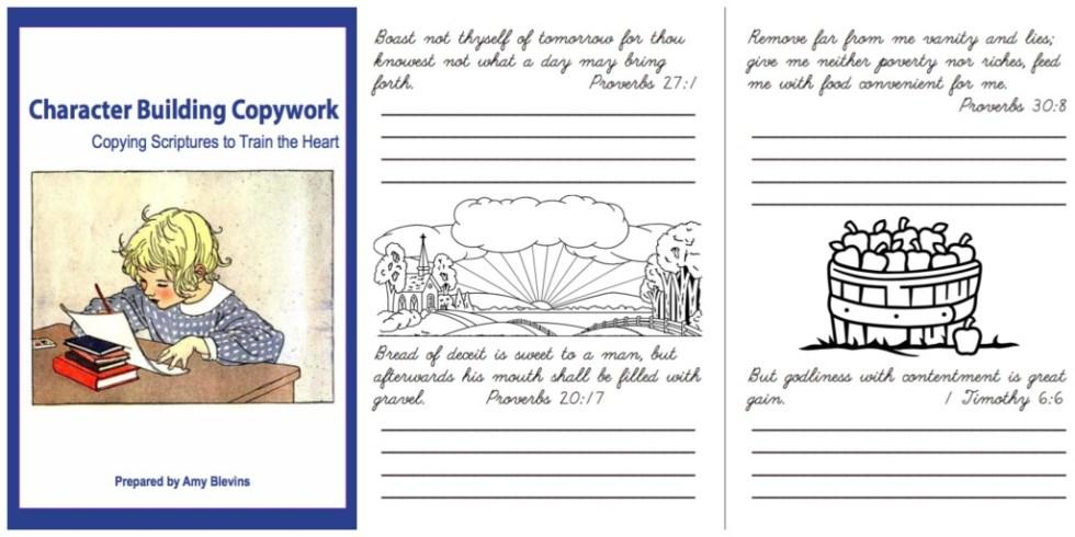 Character Building Copywork {Homeschool Copywork}