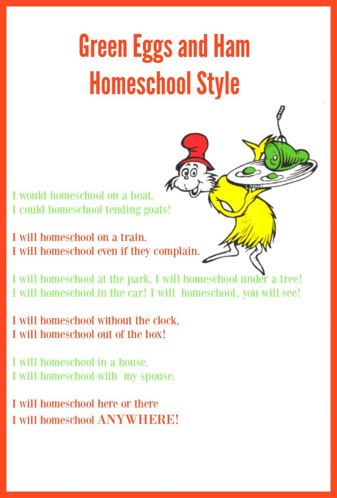 Green Eggs and Ham - Homeschool Style!