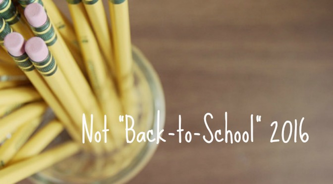 """A Not """"Back-to-School"""" Update"""
