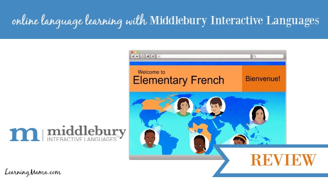 Middlebury Interactive Languages – Elementary French {Review}