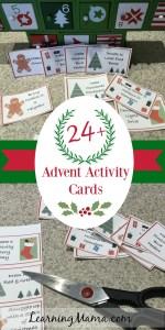 FREE printable Advent Activity Cards - Chocolate-free Advent Calendar idea